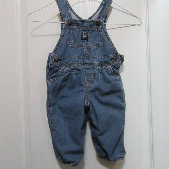 Baby  BiGosh Light Jean Lined Overalls 12 Months